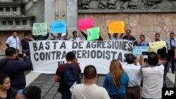 Protestë pas vrasjes së një gazetari meksikan në mars 2018