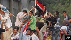 성난 이집트 시위대