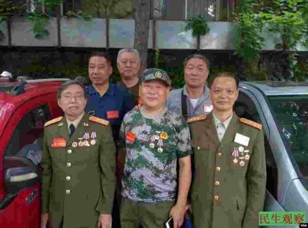 2016年6月13日,来自中国各地的复员军官到北京中央军委上访维权。(图片来源:民生观察)