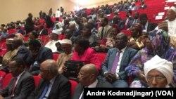 Vue des particpants au salon africain de l'agriculture, le 25 octobre 2018. (VOA/André Kodmadjingar)