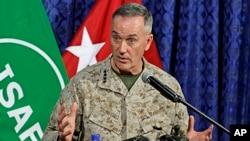 "Jenderal AS Joseph Dunford menyatakan ""penyesalan yang mendalam"" atas insiden dalam serangan misil hari Kamis (28/11)."