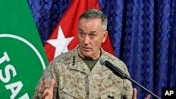 Tướng Joseph Dunford tin lực lượng Afghanistan có đủ khả năng để nhận lãnh vai trò lãnh đạo trong công tác bảo vệ an ninh ở Afghanistan.