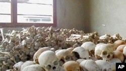 Fuvu za vichwa vya Wanyarwanda waliouawa mwaka wa 1994