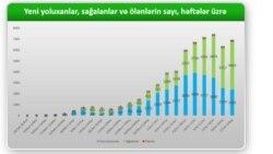 Azərbaycanda həftələr üzrə COVİD-19 statistikası