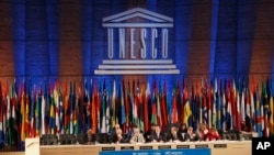 A general view of the 38th UNESCO's general conference at the headquarters in Paris, France, Nov. 3, 2015.