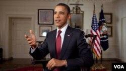 El presidente dijo que su gobierno tiene la obligación de asegurarse de que EE.UU. sea el mejor lugar del mundo para hacer negocios.