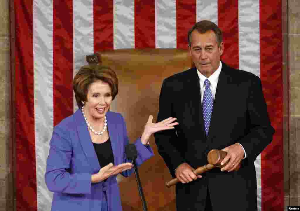 Demokratlar sardori Nensi Pelosi va respublikachilar yetakchisi Jon Beyner