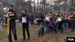 Sahrana Dimitrija Janićijevića u selu Rudar, kod Zvečana