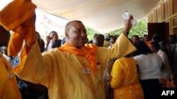 L'opposant togolais Gilchrist Olympio arrive à Lomé, le 12 août 2010.