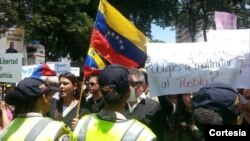 """La manifestación fue anunciada en la capital venezolana como la """"Marcha de las Togas"""" (Foto: La Patilla)."""