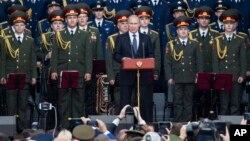 Ruski predsednik Putin na otvaranju medjunarodnog vojnog ekspoa 2015. u organizaciji ruskog ministarstva odbrane, 16. jun 2015.