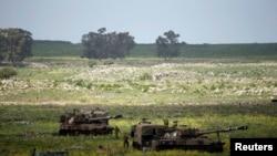 Izraelski vojnici na Golanskoj visoravni