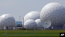 FILE - Germany's foreign intelligence agency the monitoring base in Bad Aibling near Munich, Germany, July 8, 2013.