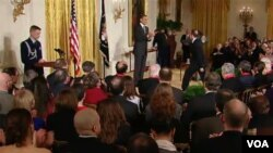 Barack Obama entregó el premio a más de una docena de galardonados.