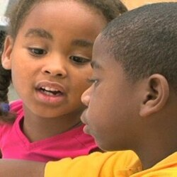 Children learning French at the Little Haiti Cultural Center in Miami