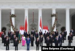Usai pelantikan Kabinet Indonesia Maju. (Foto: Courtesy/Biro Setpres)