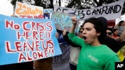 معترضان به تصمیم ترمپ برای اعمار دیوار مرزی با مکسیکو