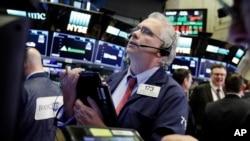 紐約股市交易情況資料照。