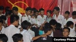 ဇူလိုင္လ ၂ရက္ေန့ကေန ၄ရက္ေန႕အထိ ပဲခူးၿမိဳ႕တြင္ က်င္းပခဲ့ေသာ ဗမာနုိင္ငံလံုးဆုိင္ရာ ေက်ာင္းသားသမဂၢမ်ား အဖဲြခ်ဳပ္ တကၠသိုလ္ သမဂၢမ်ားႏွီးေႏွာ ဖလွယ္ပဲြ။ ဓါတ္ပံု - (ABFSU-CWC)