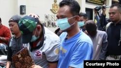 Polisi menahan dua aktivis senior Mapala UII terduga pelaku kekerasan. (Foto courtesy: Polres Karanganyar).