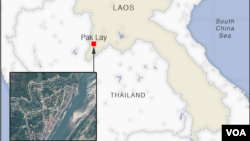 Map of Pak Lay, Laos