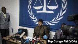 Umushikirizamanza mukuru wa CPI, Fatou Bensouda mu kiganiro n'abamenyeshamakuru i Kinshasa, RDC, Itariki 3/05/2018