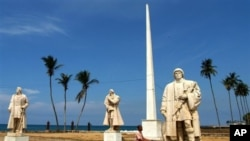 Largo do Museu Nacional na cidade de São Tomé