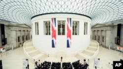 L'intérieur du British Museum à Londres, le 9 mai 2016.