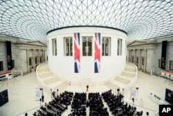 Britain's Prime Minister David Cameron delivers a speech on the European Union at the British Museum in central London, May 9, 2016. Raising the stakes in Britain's European Union membership debate, Prime Minister David Cameron said Monday that leaving the bloc would increase the risk of war in Europe.