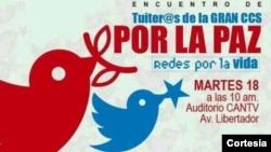Encuentro de tuiteros se realiza en el auditorio CANTV, Caracas.