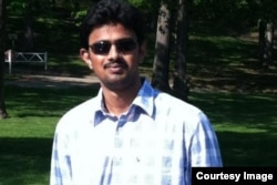 Engineer Srinivas Kuchibhotla was shot and killed last month at a bar in the state of Kansas. (Kuchibhotla family/Via gofundme.com)