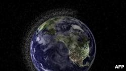 Hình trong tài liệu của công ty không gian Electro Optic Systems (EOS) của Australia mô tả lớp 'bụi vũ trụ' bao sát trái đất.