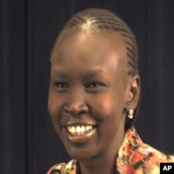 Alek Wek, a refugee from Sudan, is now a British super model and an activist for refugees.