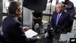 """Predsednik Tramp u intervjuu Krisu Valasu u emisiji """"Foks Njuz nedeljom"""", 10. decembra 2016."""