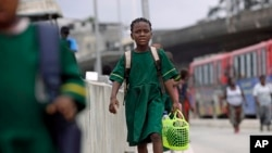 A Nigerian schoolgirl (file photo)