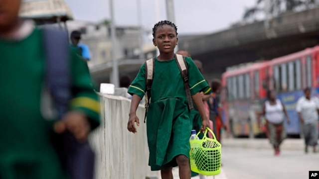 A Nigerian schoolgirl (file photo)