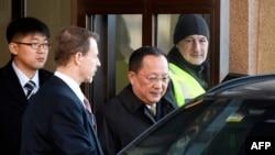 Министр иностранных дел КНДР Ли Ен Хо в Стокгольме