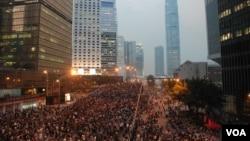 香港青年協會公佈最新調查顯示,希望移民外國的青年比例超過6成。(美國之音湯惠芸攝)