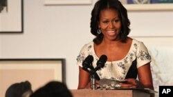 Michelle Obama en el Studio Museum de Nueva York, donde resaltó la importancia de que la juventud se eduque.