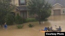 Flood in Houston, Texas