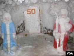 俄罗斯雅库特永久冻土研究所的地下实验室。
