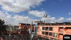Shibirg'onda General Abdurashid Do'stum bilan uchrashuv. Afg'oniston, 20-fevral, 2020.