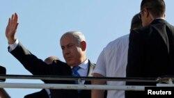 Биньямин Нетаньяху в международном аэропорту имени Бен Гуриона в пригороде Тель-Авива (архивное фото)