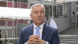 USA, New York, president of Montenegro Milo Djukanovic during interview