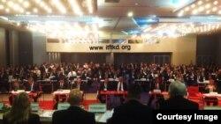 국제태권도연맹(ITF)이 지난달 26일 불가리아 플로브디브에서 제25차 총회를 진행하고 있다. ITF는 이 자리에서 신임 총재를 선출하고 차기 태권도 세계선수권대회 개최지를 선정했다. 사진제공= ITF & NATF.