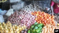 Vegetables on display at a market in Zanzibar. Research shows that most African food producers are women, but that their output is much lower than what it should be.