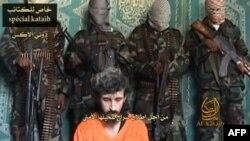 소말리아 알 샤바브가 인터넷에 공개한 프랑스 요원 데니스 알렉스의 사진.