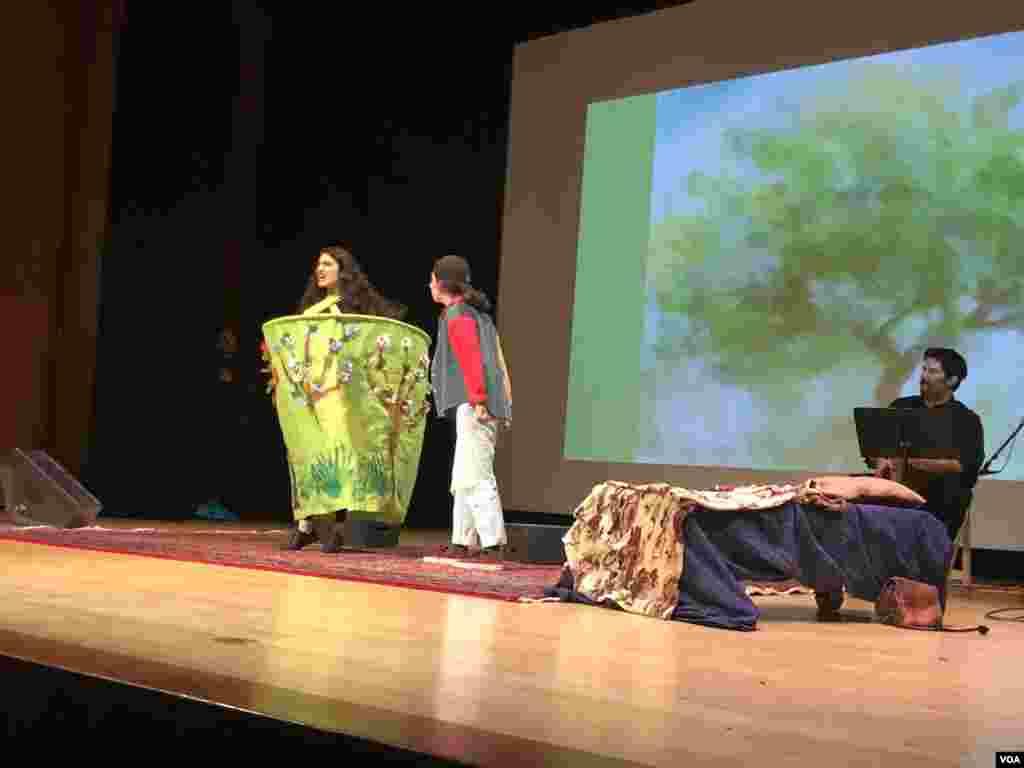 جشن نوروزی موسسه فرهنگی پردیس در شهر نیویورک. اجرای نمایش هم بخشی از این مراسم بود.