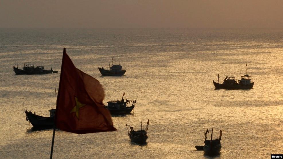 Ảnh tư liệu - Những chiếc thuyền đánh cá ở đảo Lý Sơn, Quảng Ngãi, Việt Nam.