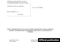 Rıza Sarraf'ın avukatlarının sunduğu son savunma belgesi
